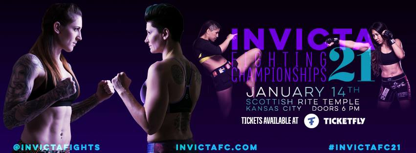 Invicta FC 21 Fight Card Complete with Addition of Three Fights