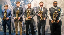 Five student-athletes honored at NFF