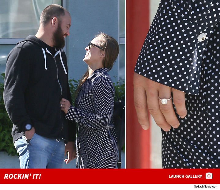 Randa Rousey with her Diamond ring