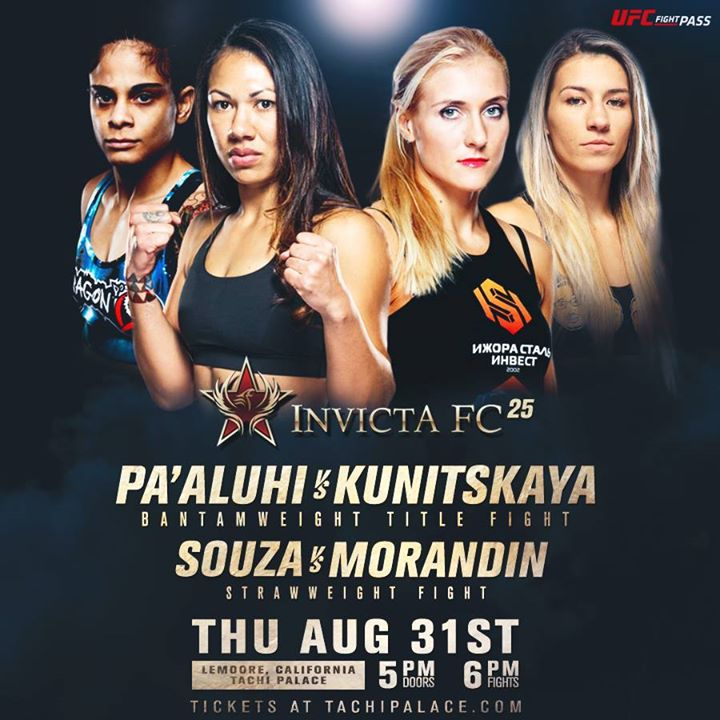 InvictaFC 25 Play By Play and Live Fight Results